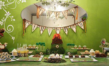 Rustic Dinosaur Twins Birthday Party Dinosaur birthday party