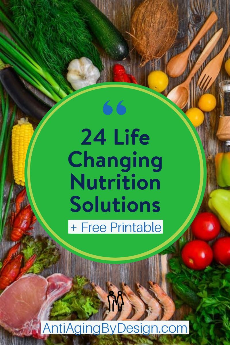 Free printable 24 Life Changing Nutrition Solutions for
