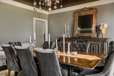 Gray Dining Room - eclectic - Dining Room - Other Metro - E.V.M. BESPOKE DESIGN