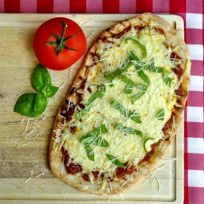 Grilled Tomato & Mozzarella Pizza