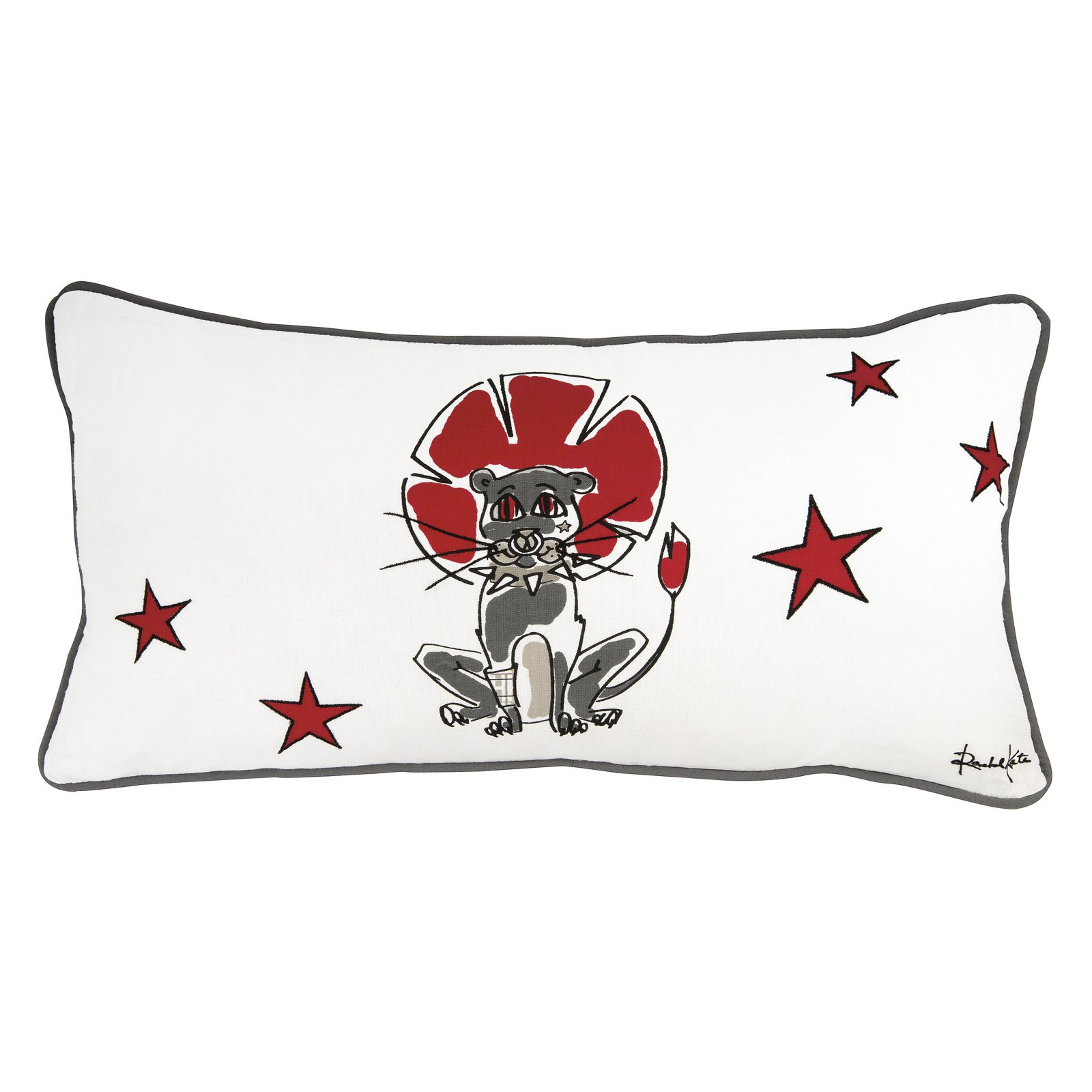 Rizzy Home Rachel Kate License Product Zebra Decorative Pillow White PILT06669WH001818