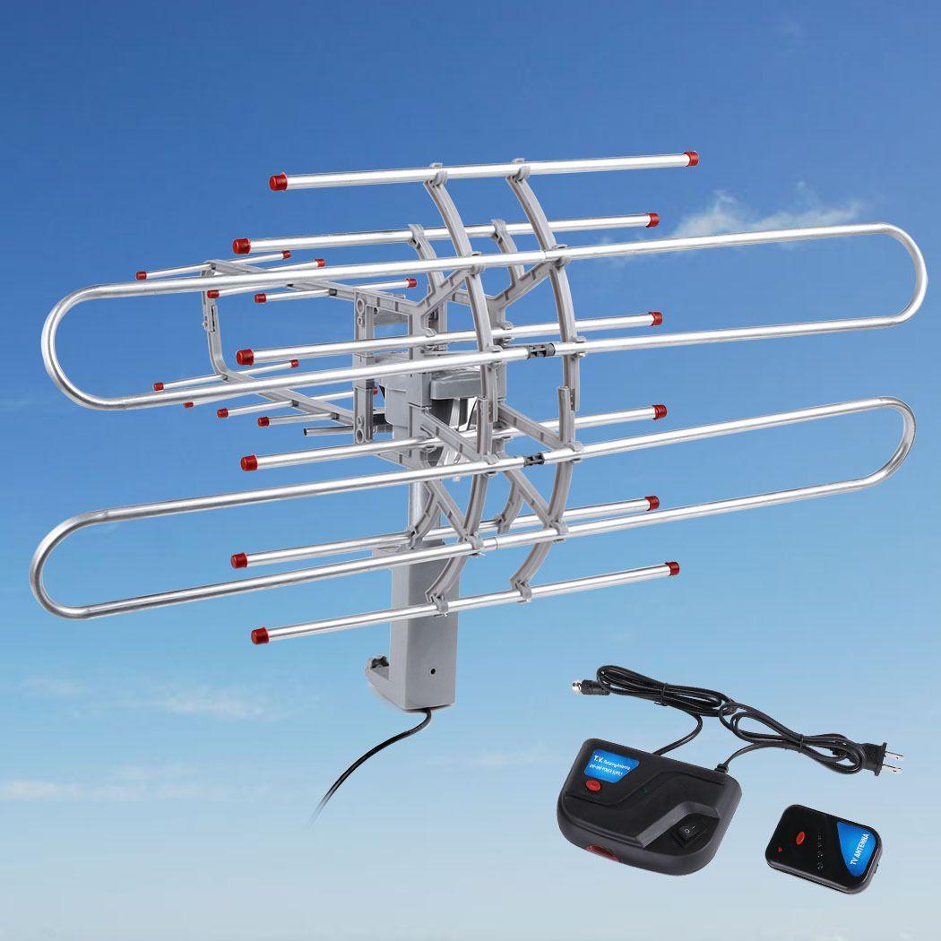 180 Mile HDTV 1080p Outdoor Amplified HD TV Antenna Digital UHF//VHF FM Radio New