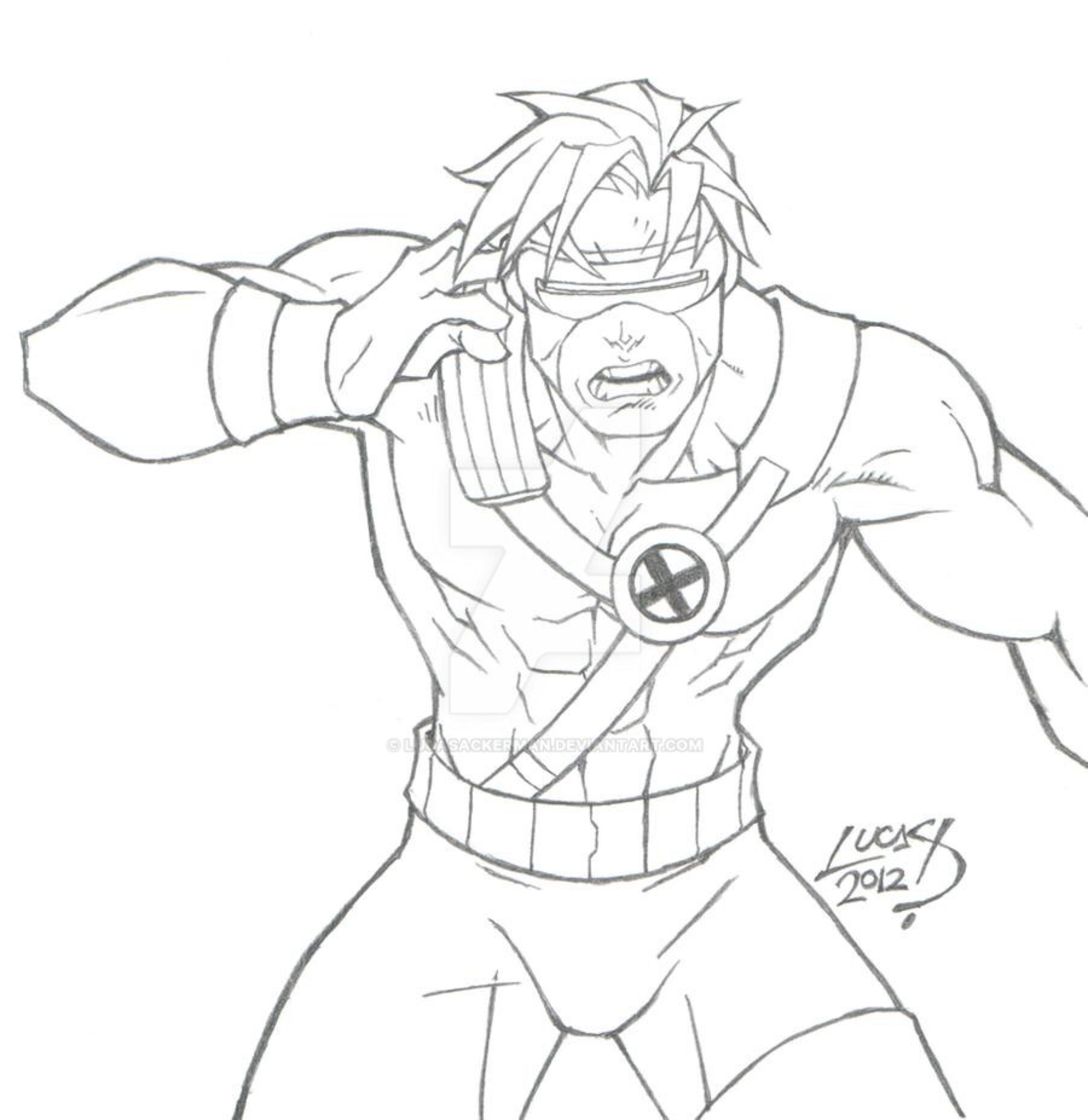 Cyclops 2012 By Lucasackerman On Deviantart Avengers Coloring Pages Avengers Coloring Best Marvel Characters