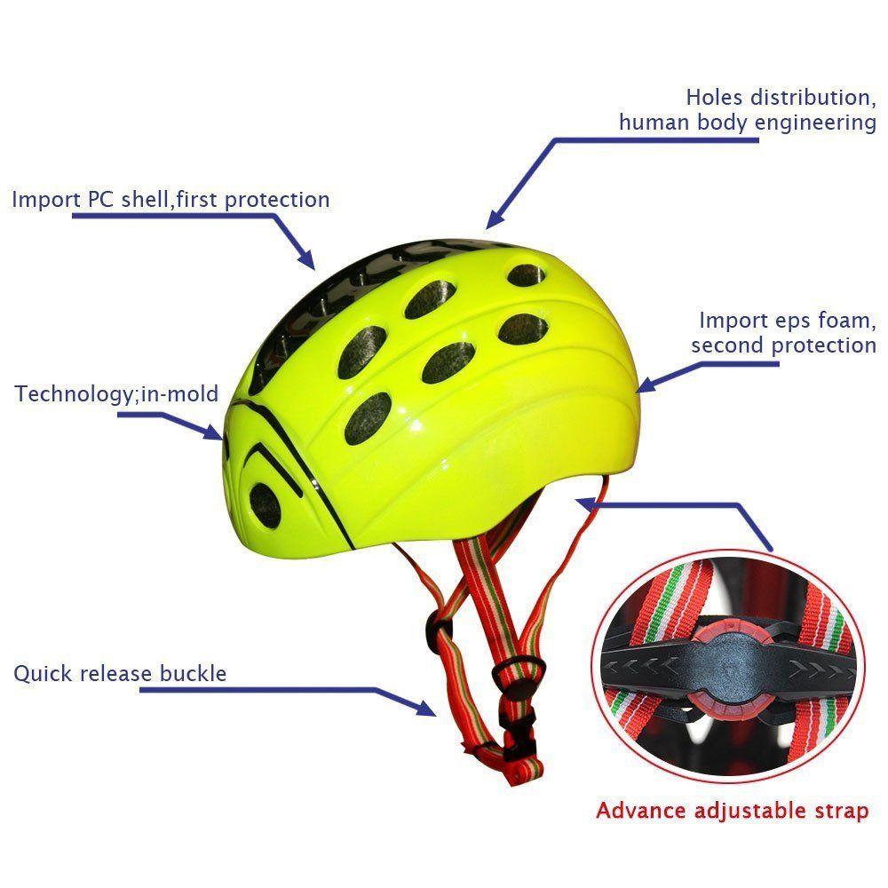 Amazon Com Kuyou Kid S Skateboarding Helmet Adjust Size Multi
