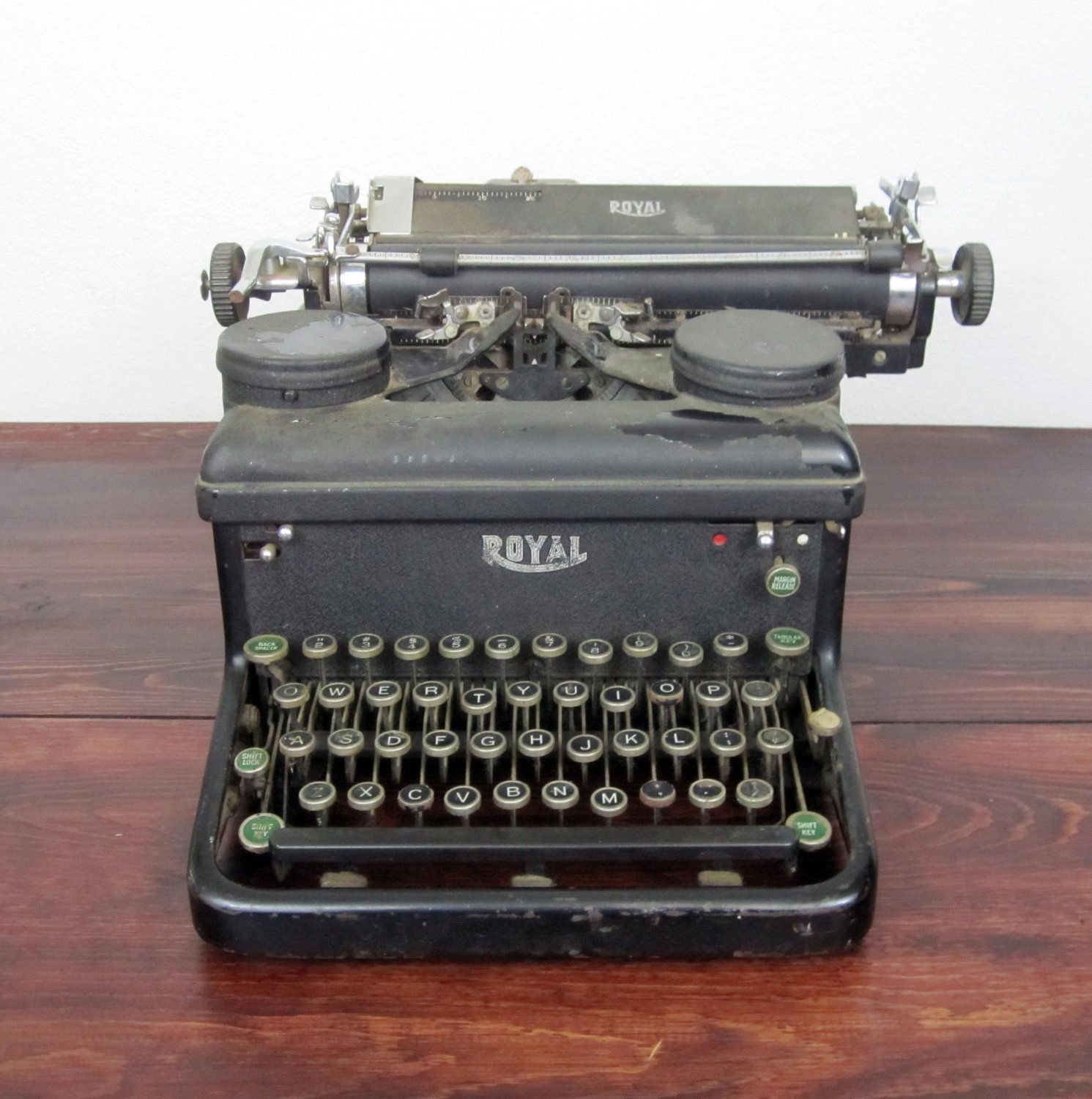 Vintage 1937 Royal KHM Typewriter / Non-Op for Parts, Repair or Upcycling. $45.00, via Etsy.