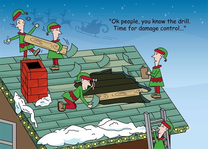 Funny Reindeer Meme : Let us help you make sure your roof is ready for santa and his