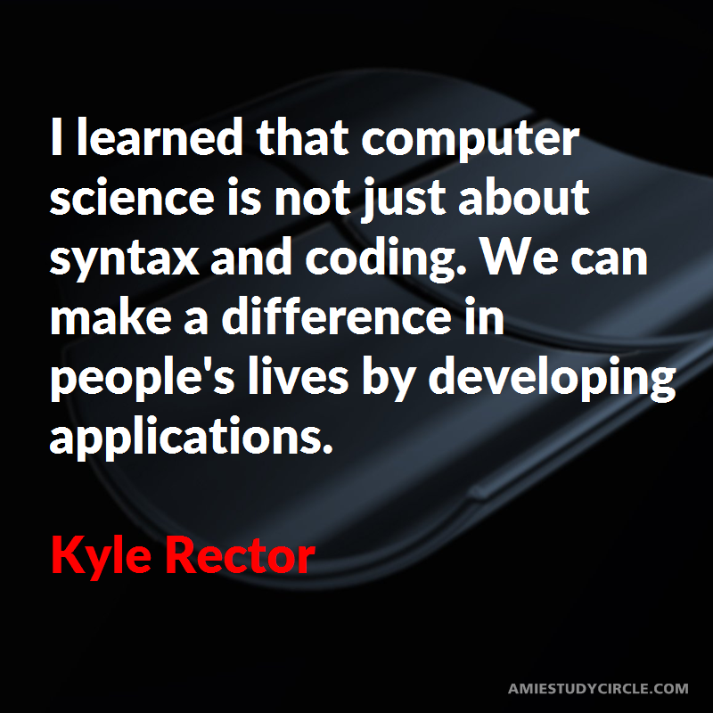 I Learned That Computer Science Is Not Just About Syntax And Coding We Can Make A Difference In People S Lives By Devel Tech Quotes Computer Science I Learned