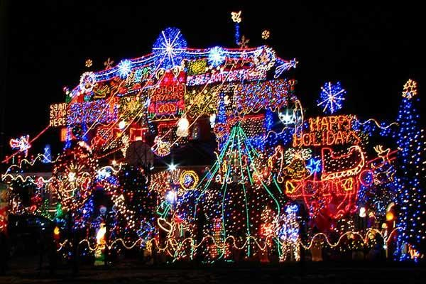 10 Outrageously Amazing Christmas Light Decorations - YAY! {Check out the free Sweater-izer app here: http://funistheanswer.com/sweater-izer/