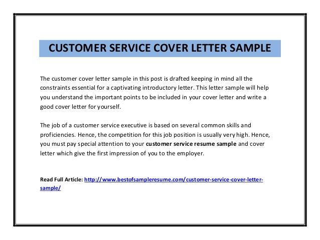 Delightful Sample Of A Customer Service Resume Customer Service Sales Cover Letter  Resume Free Resume Example .