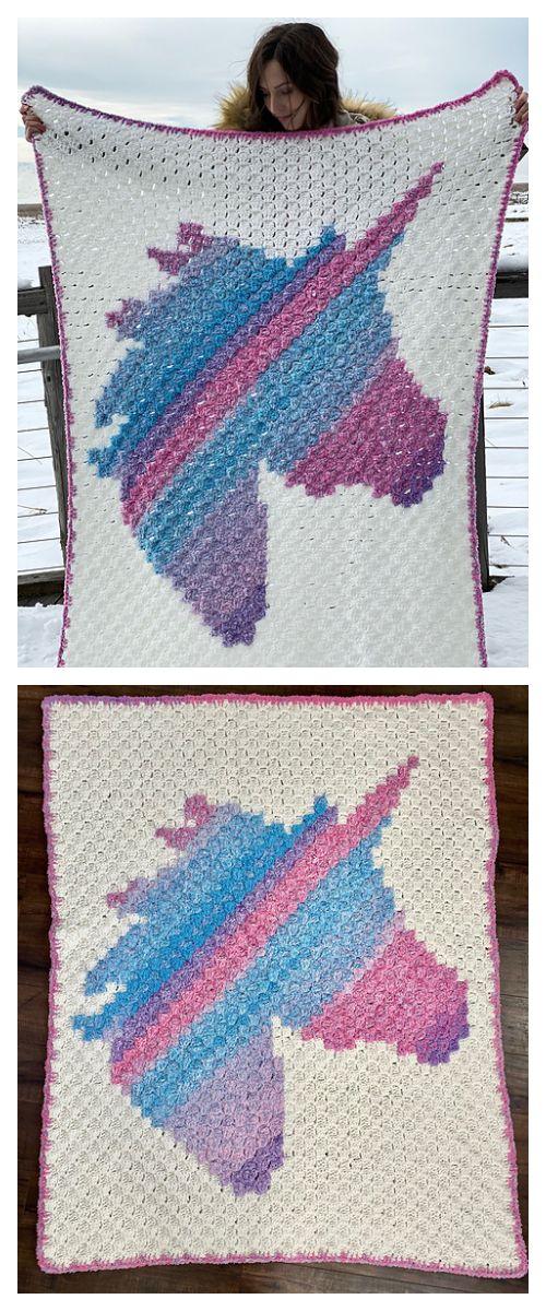 Unicorn Baby Blanket Free Crochet Patterns | Crochet ...