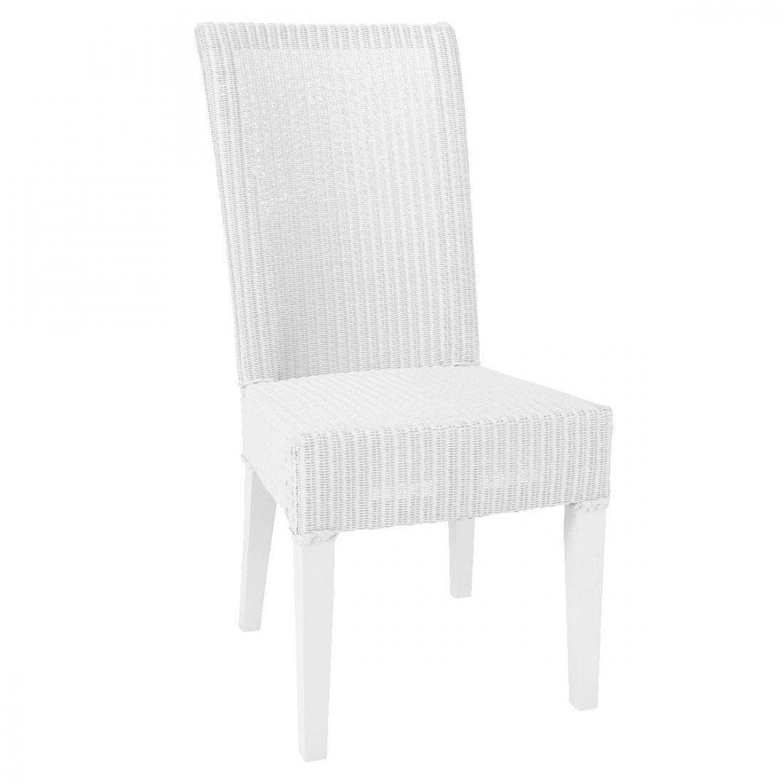 Chaise Lloyd Loom Josephine Laque Blanc Furniture Coastal Furniture Accent Chairs