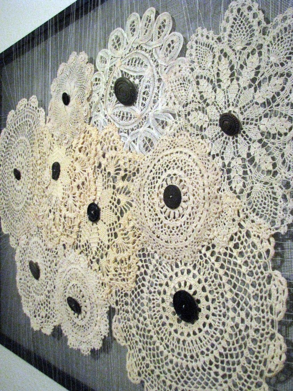 Doily Wall Art Simple Home Decoration Crochet wall art