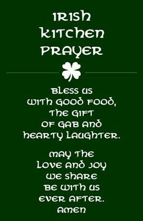 Irish Ireland Kitchen Prayer Gift St Patrick S Day Word Art Wall Home Decor Subway Housewarming