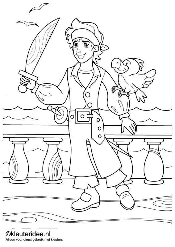 Kleurplaten Piraten En Prinsessen.Kleurplaat Piraten 2 Kleuteridee Nl Op De Site Nog Veel Meer