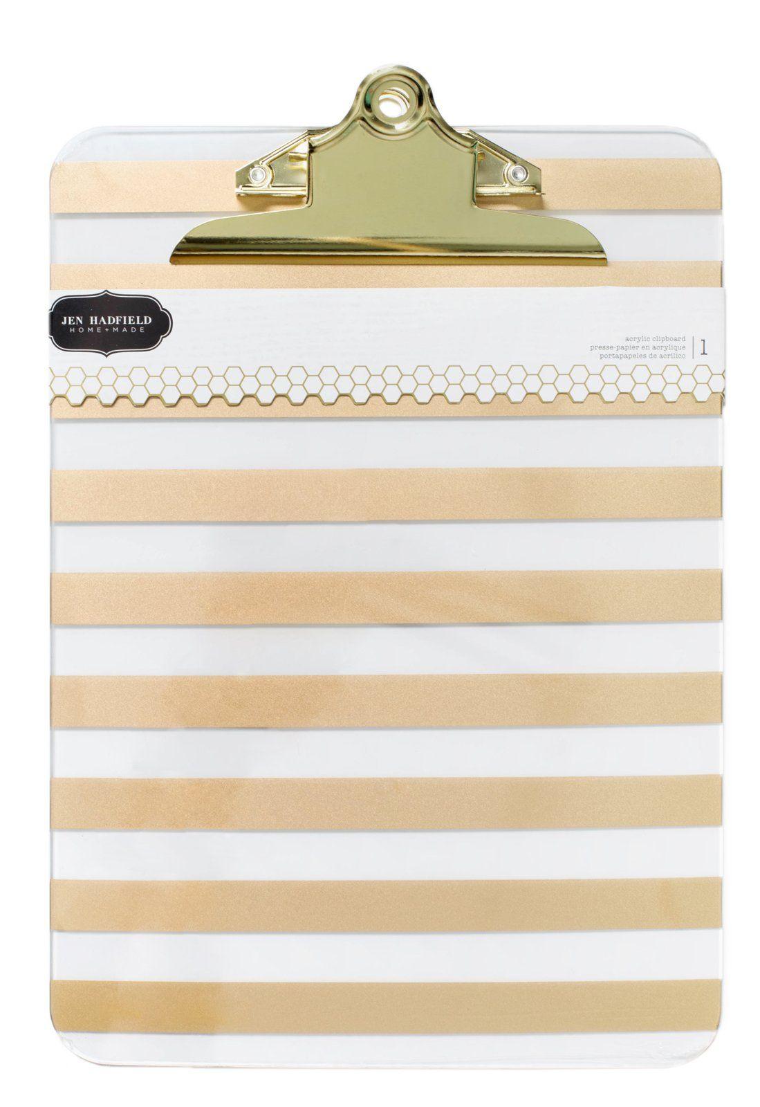 American Crafts Jen Hadfield DIY Home Gold Foil Acrylic Clipboard