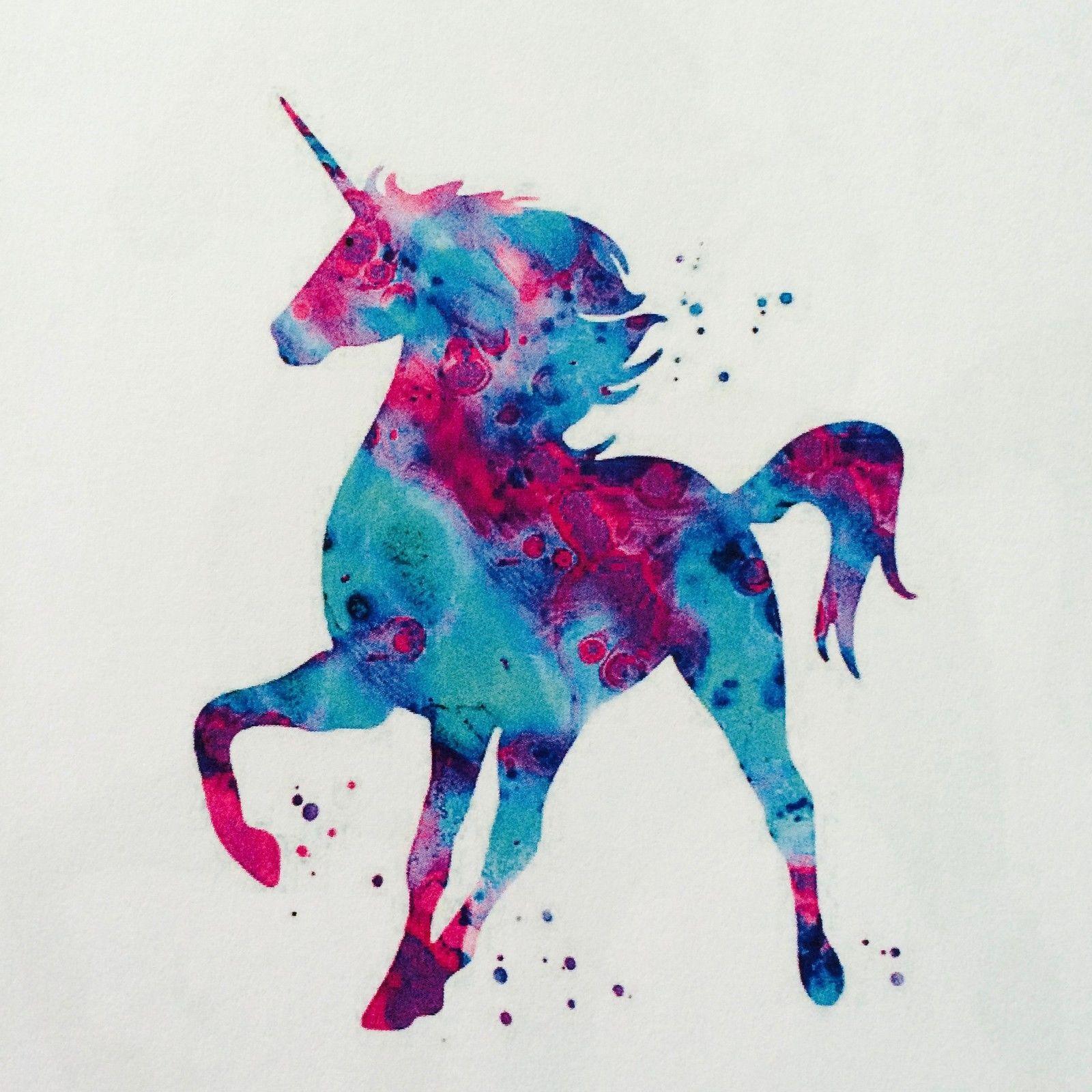 1 Bugelbild Einhorn Helle Transferfolie Applikation Rosalies Vintage Shabb Animal Art Rainbow Unicorn Drawings
