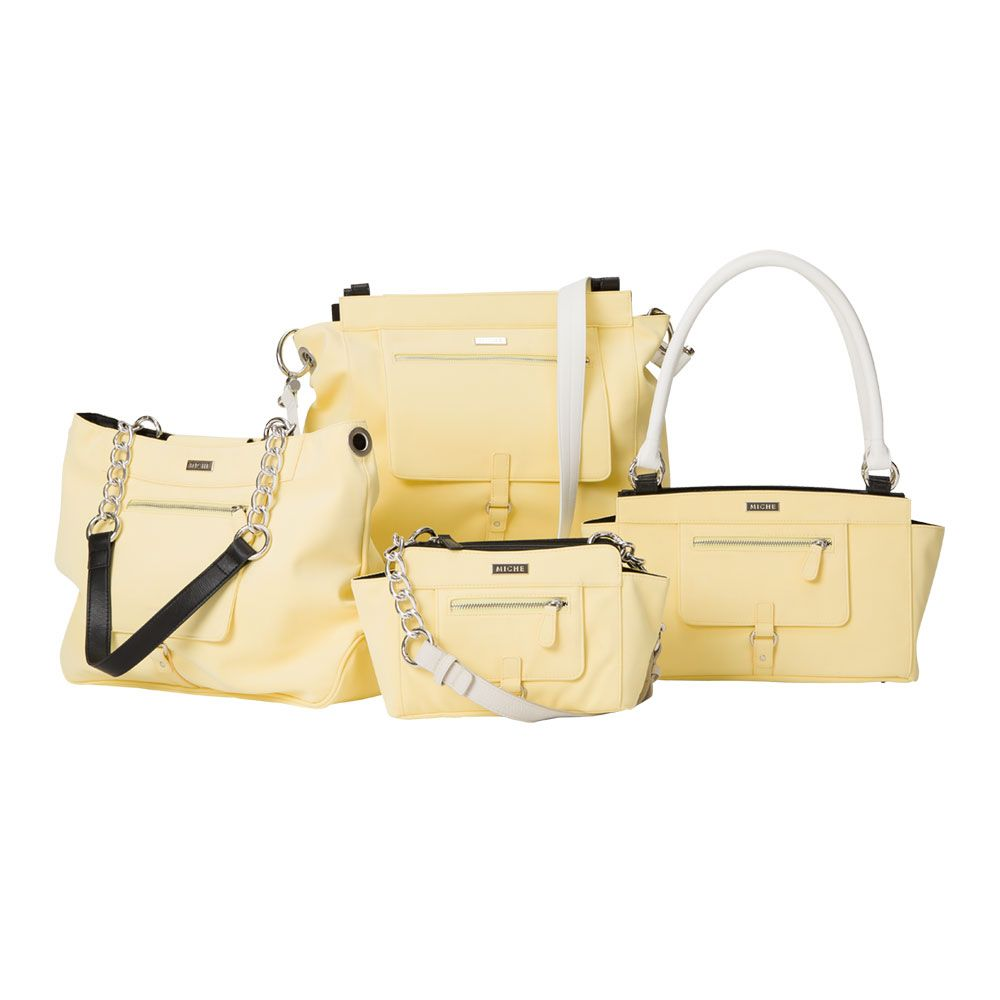Emery Collection Ery Yellow Soft Ultra Suede Will Melt Your Heart While Making Any Outfit A Whole Lot Sunnier For Miche Bags Features Front