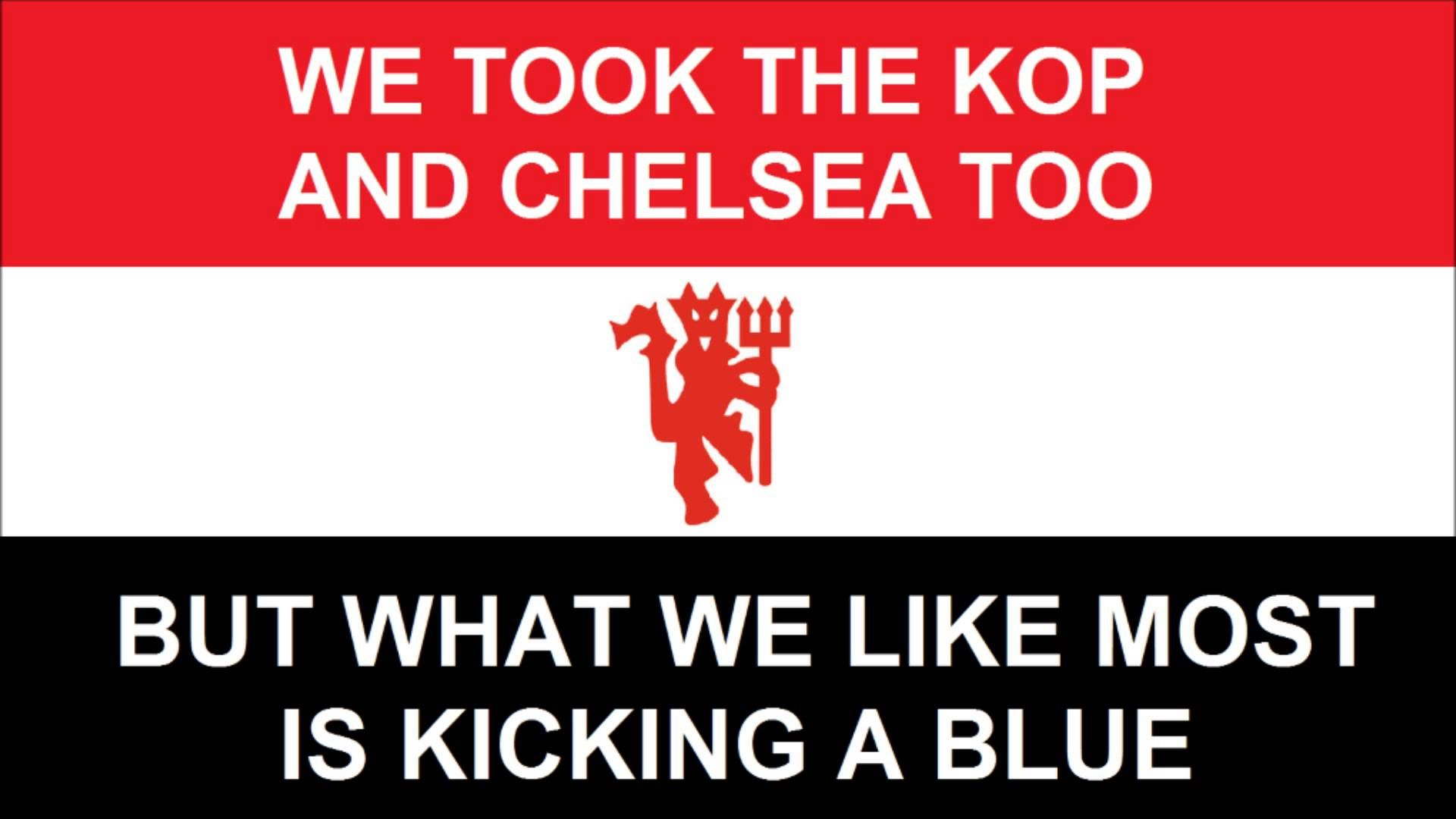 What We Like Most Is Kicking A Blue Manchester United Song Kicks Blue
