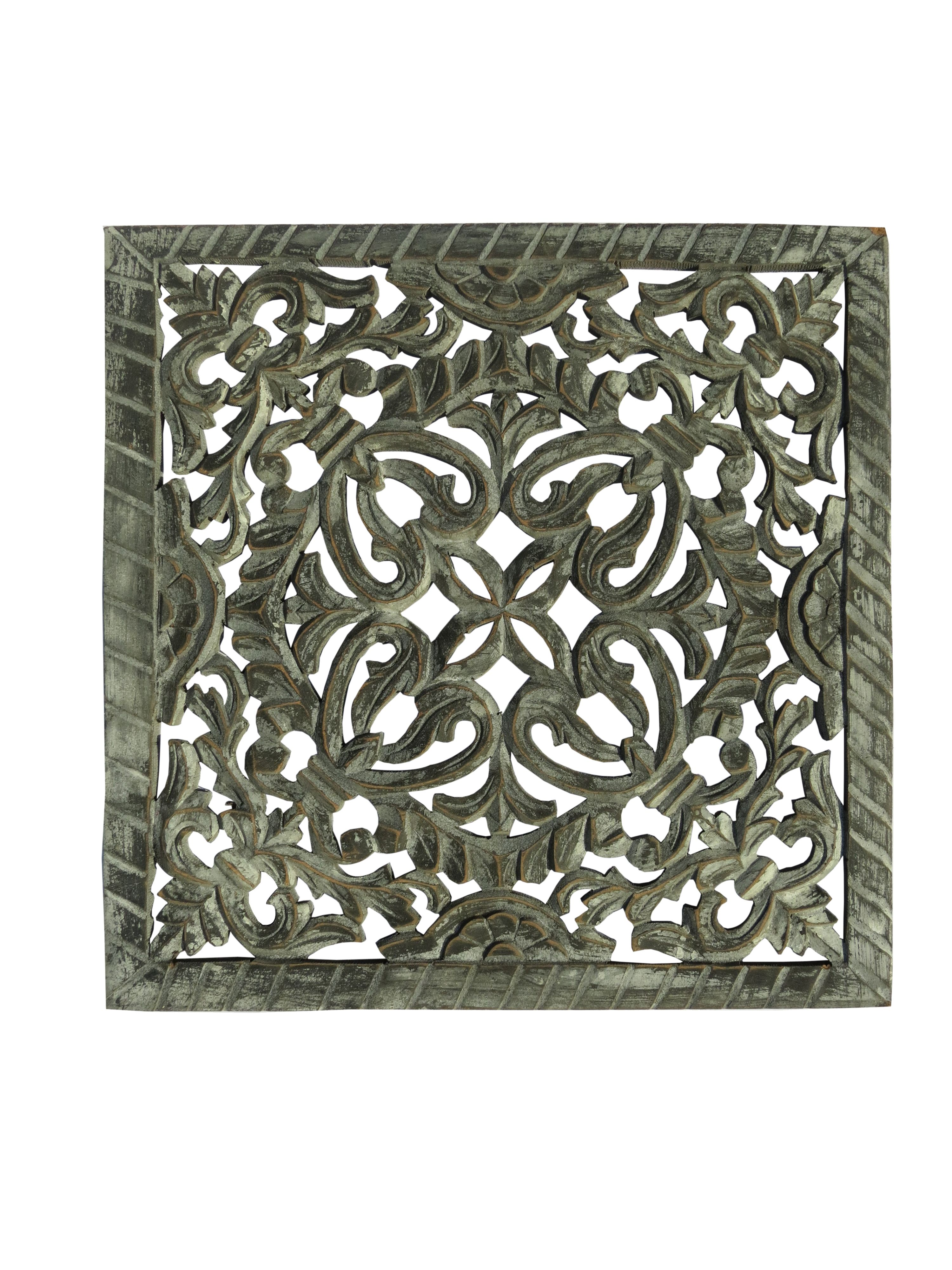 Mdf Carved Panel Design In Grey Antique Finish Reliable Durable Indian Authentic Handicrafts With Antique Rur Wooden Wall Panels Panel Design Wood Paneling