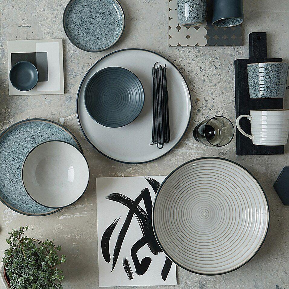 Denby Studio Grey 4 Piece Nesting Bowl Set Bed Bath Beyond Grey Dinnerware Grey Mugs Grey Dinner Plates