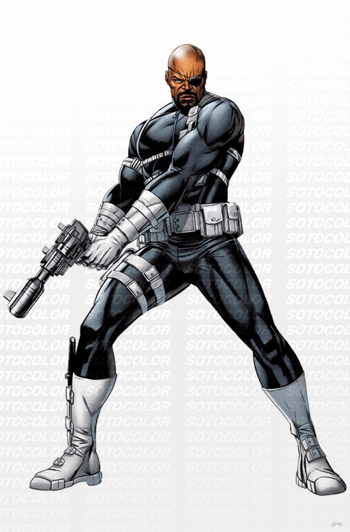 Avengers Nick Fury  by *JPRart
