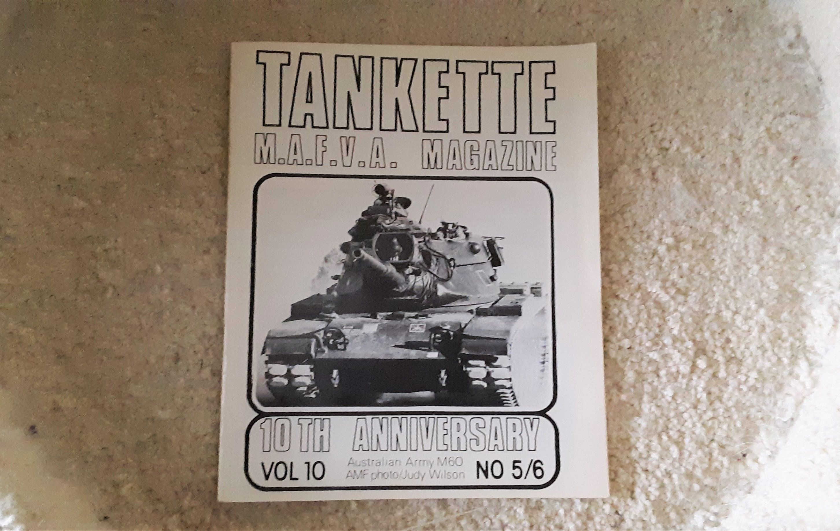 Tankette Magazine Of The Miniature Armoured Fighting Vehicles Association 1975 10th Anniversary Vintage Photo Album Armored Fighting Vehicle Nostalgic Books