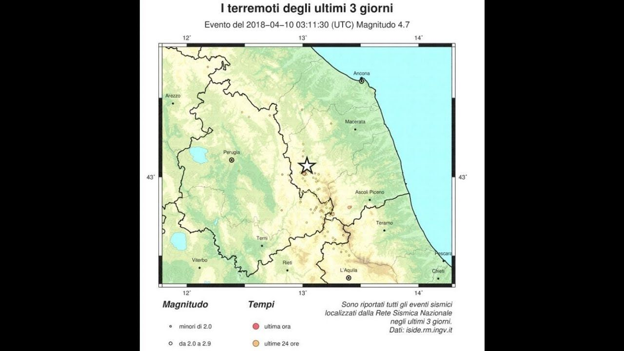Strong earthquake reported in central Italy Strong