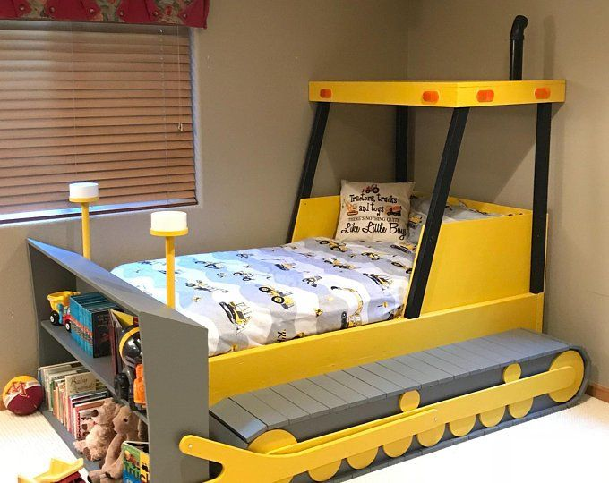 Construction Truck Bed Plans In Digital Format For A Diy Construction Themed Room Kid