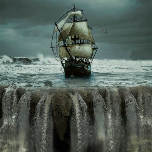 Sailing to the edge of the World. Eyecatcher-For-Real | Sailing, Sailing  ships, Ghost ship