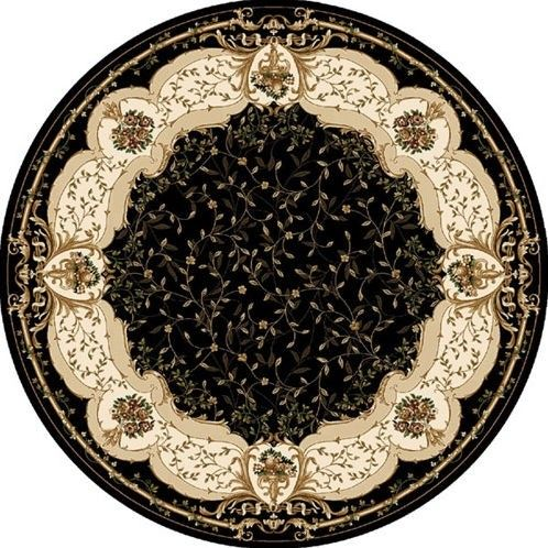 Home Dynamix Regency 8500 Black Traditional Round Rug   8500 Round Black  $182.95
