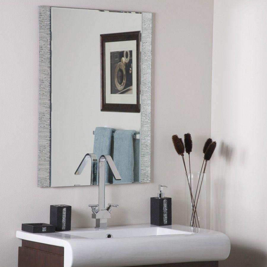 bathroom cabinet online design tool%0A Decor Wonderland Frameless Molten Wall Mirror  SSM