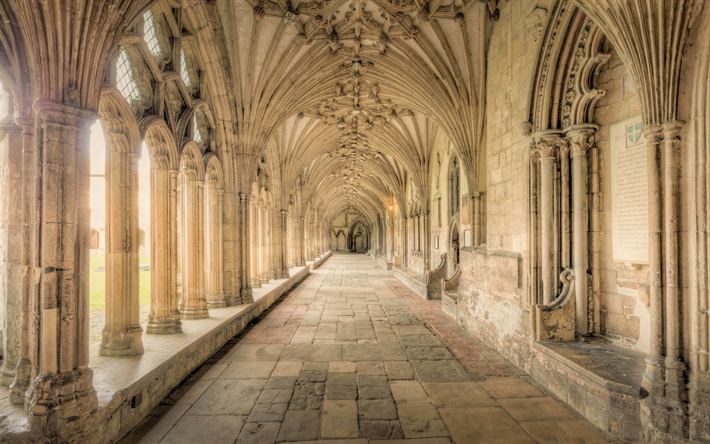 Download Wallpapers Canterbury Cathedral Gothic English Architecture Old Buildings