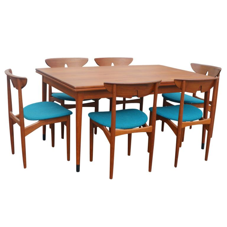 three kurt ostervig scandinavian teak dining chairs - Scandinavian Teak Dining Room Furniture