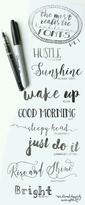 Pin By Tere On Lettering    Fonts Easy Art And