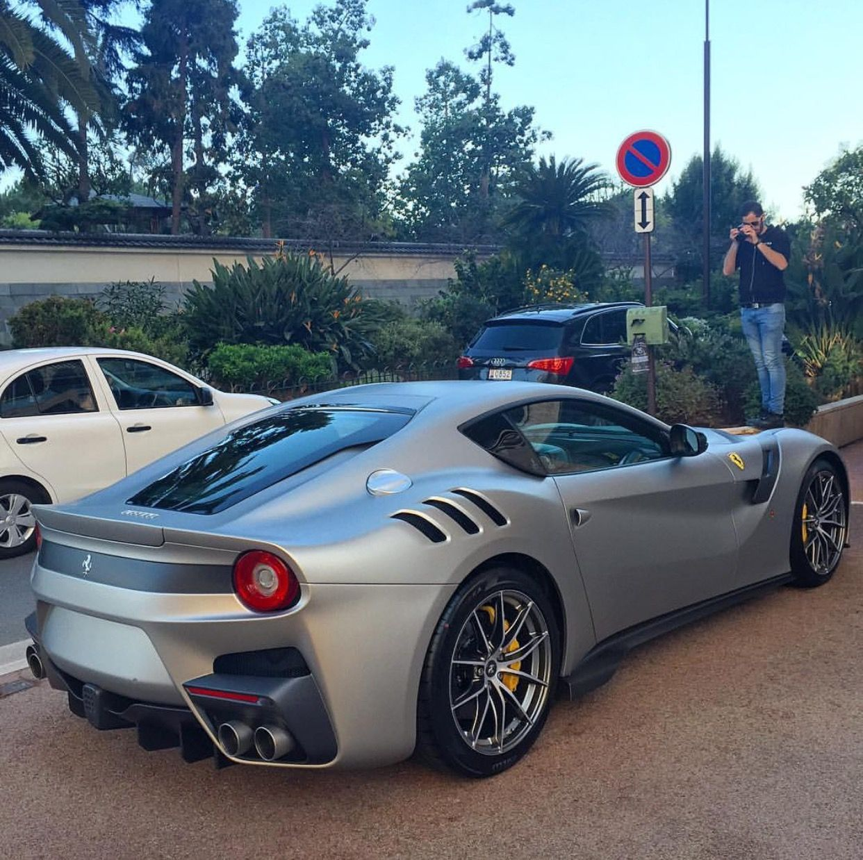 Matte Silver Bentley Awesome: Ferrari F12 TDF Painted In Matte Silver Photo Taken By