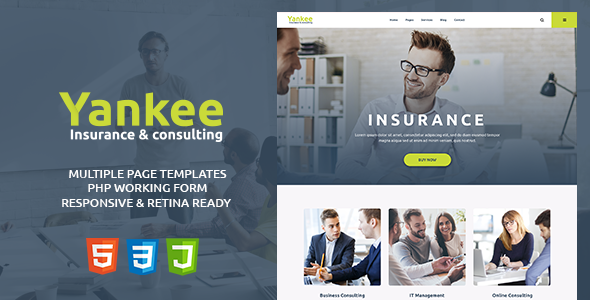 Yankee - Insurance & Consulting HTML Template by modeltheme ...