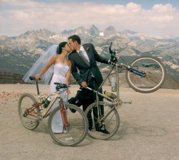 Mountain Bike Wedding, Summer in Mammoth! Photo by Cooke's Fine Photography…