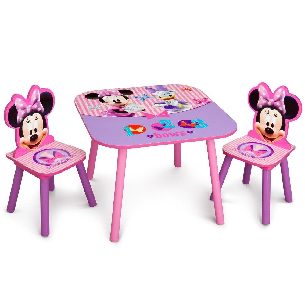 Delta Children Table And Chair Minnie Mouse Multi Colored Delta Children Kids Table Chairs Table Chair Sets