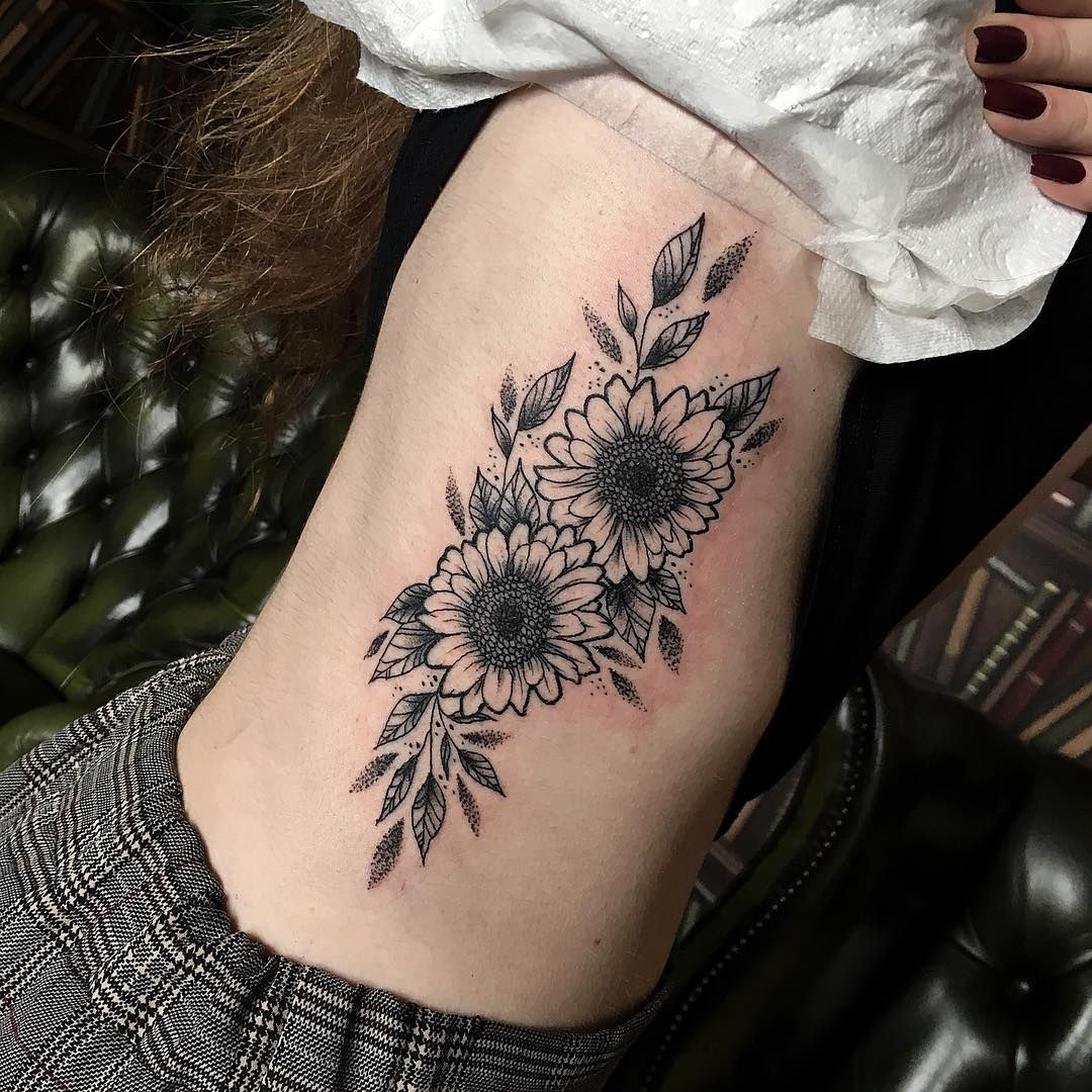 Small Sunflower Tattoo Meaning: #sunflower #sunflowers #sunflowertattoo #flowers #floral