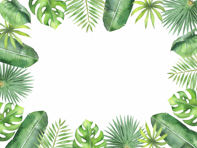 Tropical set digital printable clipart