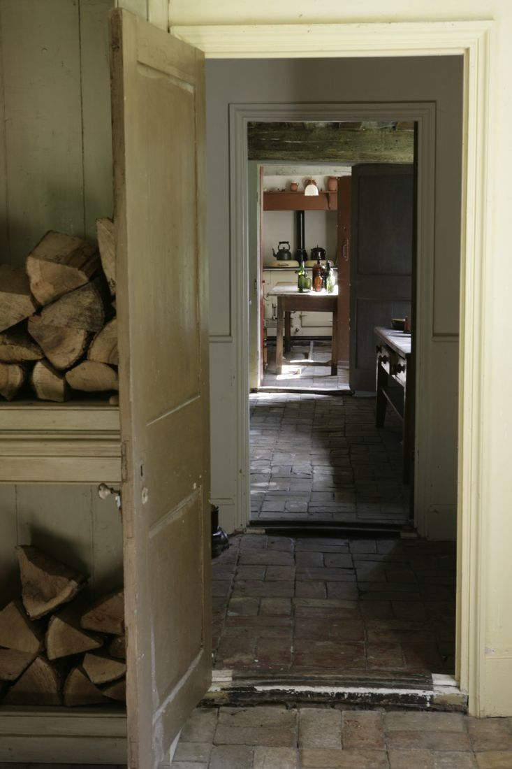 brick kitchen flooring brick floor through the mud room home 1790
