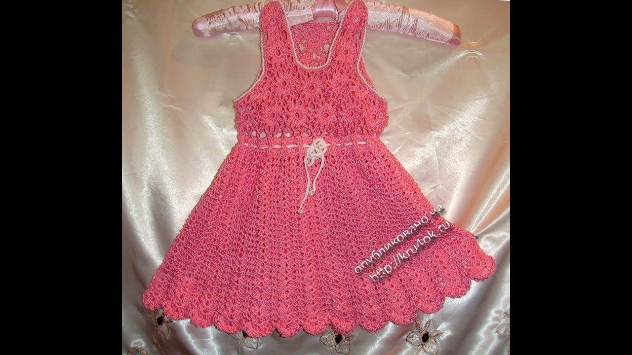 Crochet Patterns| for free |crochet baby dress| 2123 | tejido ...