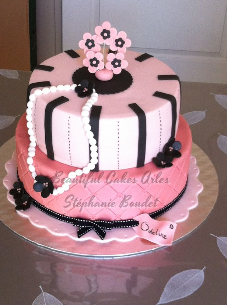 Gâteau anniversaire girly