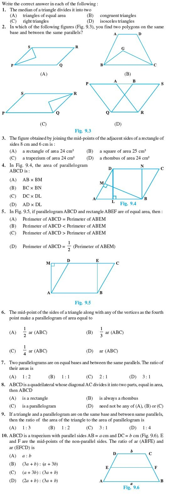 Class 9 Important Questions For Maths Areas Of Parallelograms And Triangles Aglasem Schools This Or That Questions Maths Area Math