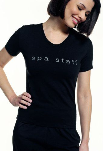 Spa uniforms women 39 s spa staff t shirt studio wish list for Uniform for spa staff