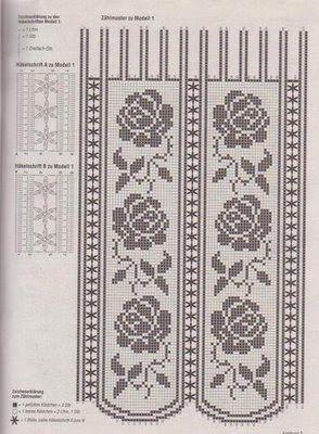 Filet Häkeln Gardine Filet Crochet Curtain Häkeln Gardinen