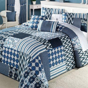 Santorini Patchwork Quilted Oversized Bedspread Pinterest