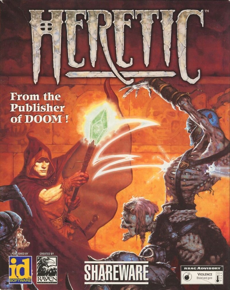 930cdda6 Cover art for Heretic (MAC) database containing game description & game  shots, credits, groups, press, forums, reviews, release dates and more.
