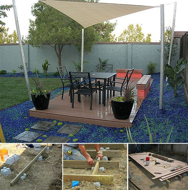 Image Of A Finished Floating Deck And Process Images Of A