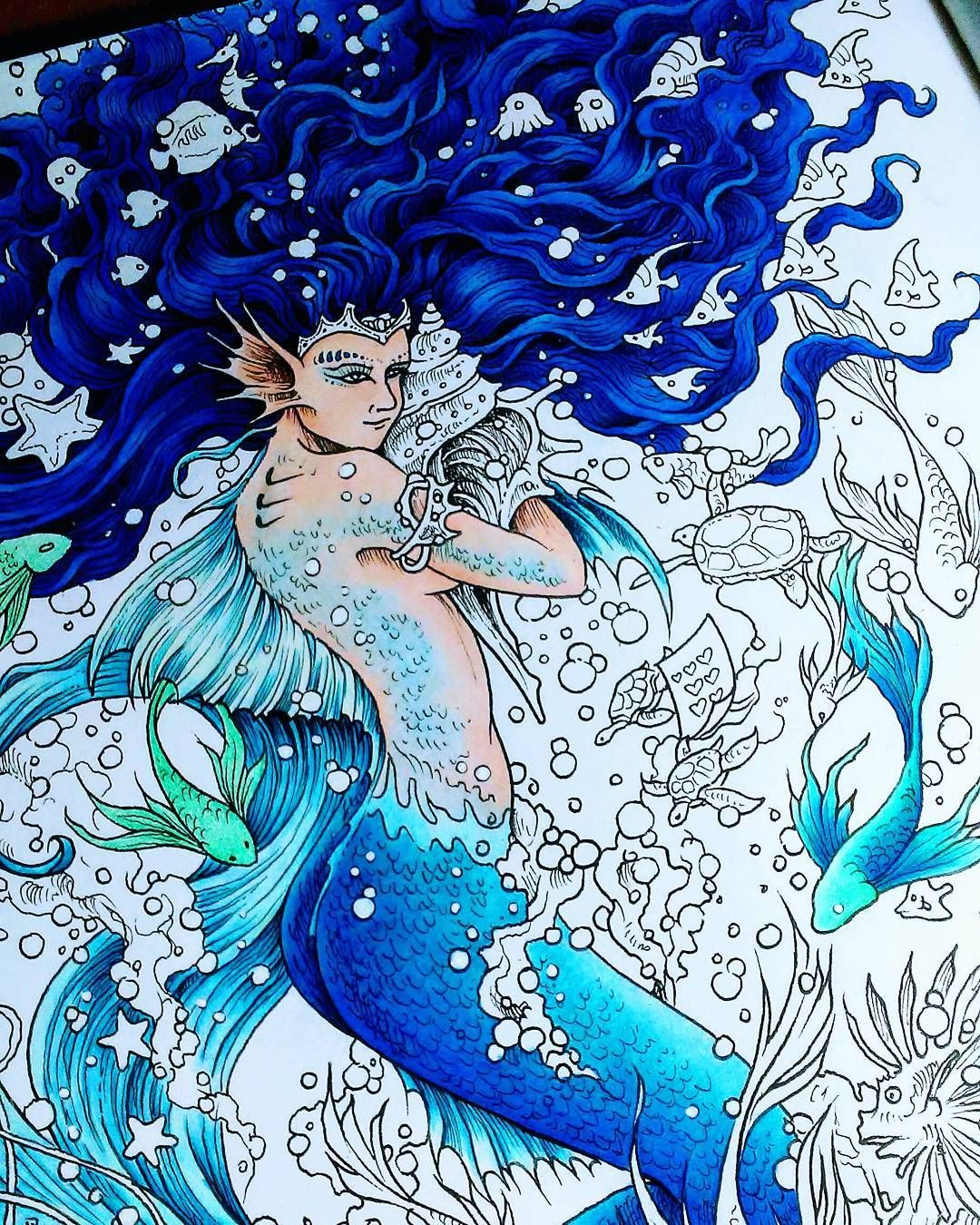 Mermaids mythomorphia coloring books colouring techniques